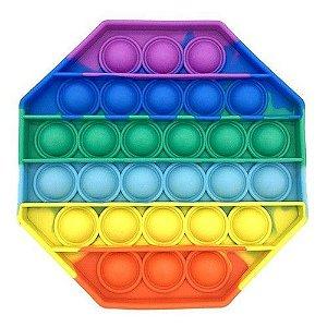Pop It Fidget Octogóno Toys Brinquedo Anti Stress Sensorial Colorido_ml