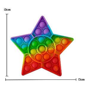 Pop It Fidget Estrela Toys Brinquedo Anti Stress Sensorial Colorido Tiktok_ml