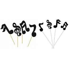 PALITO DECORATIVO NOTAS MUSICAIS GRANDE C/10UN R.1177