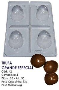 FORMA PARA CHOCOLATE COM SILICONE BWB TRUFA GRANDE 60GR R.42_PF12