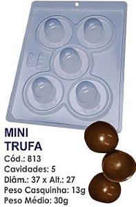 FORMA PARA CHOCOLATE COM SILICONE BWB MINI TRUFA 30GR UN R.813_PF13