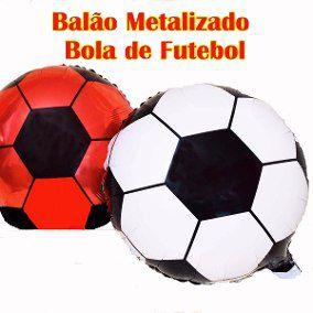 BALAO METALIZADO BOLA DE FUTEBOL UN R.YDH2165