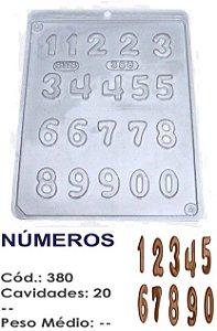 FORMA PLÁSTICA PARA CHOCOLATE BWB BOMBOM NÚMEROS UN R.380_1801F