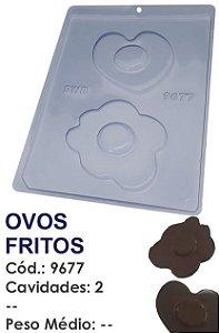 FORMA PLÁSTICA PARA CHOCOLATE BWB OVO FRITO UN R.9677