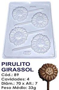 FORMA PLÁSTICA PARA CHOCOLATE BWB PIRULITO FLOR GIRASSOL UN R.89_404
