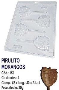 FORMA PLÁSTICA PARA CHOCOLATE BWB PIRULITO MORANGOS UN R.156