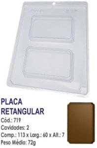 FORMA PLÁSTICA PARA CHOCOLATE BWB TABLETE PLACA RETANGULAR LISA R.719