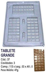 FORMA PLÁSTICA PARA CHOCOLATE BWB TABLETE DE CHOCOLATE GRANDE UN R.37