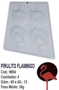 FORMA PLÁSTICA PARA CHOCOLATE BWB PIRULITO FLAMINGO UN R.9694