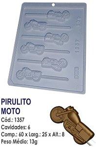 FORMA PLÁSTICA PARA CHOCOLATE BWB PIRULITO MOTO UN R.1357