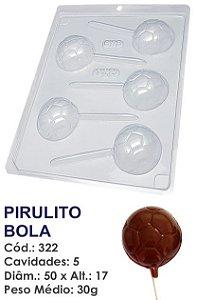 FORMA PLÁSTICA PARA CHOCOLATE BWB PIRULITO BOLA DE FUTEBOL UN R.322_410
