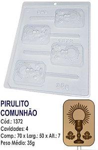 FORMA PLÁSTICA PARA CHOCOLATE BWB PIRULITO COMUNHÃO RELIGIÃO UN R.1372