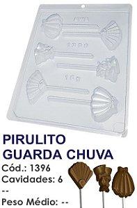 FORMA PLÁSTICA PARA CHOCOLATE BWB PIRULITO GUARDA CHUVA UN R.1396