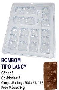 FORMA PLÁSTICA PARA CHOCOLATE BWB BOMBOM TIPO LANCY UN R.63