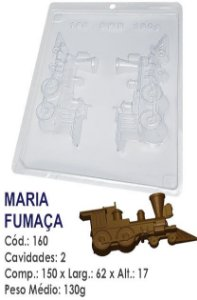 FORMA PLÁSTICA PARA CHOCOLATE BWB BOMBOM TREM MARIA FUMAÇA UN R.160
