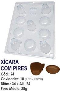 FORMA PLÁSTICA PARA CHOCOLATE BWB BOMBOM XÍCARA COM PIRES UN R.94