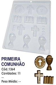 FORMA PLÁSTICA PARA CHOCOLATE BWB BOMBOM PRIMEIRA COMUNHÃO UN R.1364