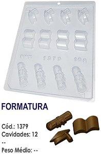 FORMA PLÁSTICA PARA CHOCOLATE BOMBOM BWB FORMATURA UN R.1379