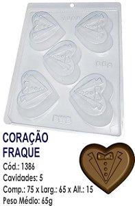 FORMA PLÁSTICA PARA CHOCOLATE BWB BOMBOM CORAÇÃO FRAQUE UN R.1386_2013F