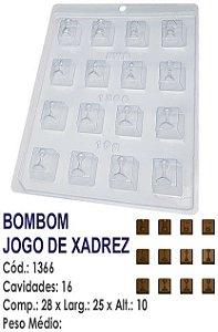 FORMA PLÁSTICA PARA CHOCOLATE BWB BOMBOM JOGO DE XADREZ UN R.1366