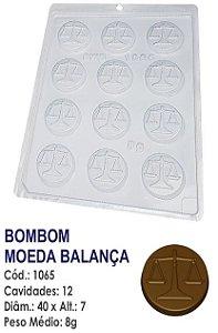 FORMA PLÁSTICA PARA CHOCOLATE BWB BOMBOM MOEDA BALANÇA UN R.1065