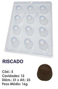 FORMA PLÁSTICA PARA CHOCOLATE BOMBOM REDONDO BWB RISCADO UN R.05_507