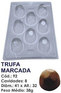 FORMA PLÁSTICA PARA CHOCOLATE BWB TRUFA MARCADA UN R.92_506