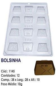 FORMA PLÁSTICA PARA CHOCOLATE BWB BOMBOM BOLSINHA UN R.1145
