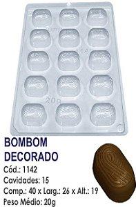 FORMA PLÁSTICA PARA CHOCOLATE BWB BOMBOM DECORADO UN R.1142_1966F