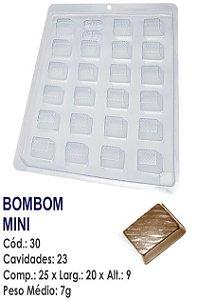 FORMA PLÁSTICA PARA CHOCOLATE BWB BOMBOM RETANGULAR MINI UN R.30