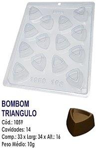 FORMA PLÁSTICA PARA CHOCOLATE BWB BOMBOM TRIÂNGULO UN R.1059