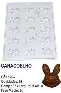 FORMA PLÁSTICA PARA CHOCOLATE BWB BOMBOM CARACOELHO 5GR UN R.206