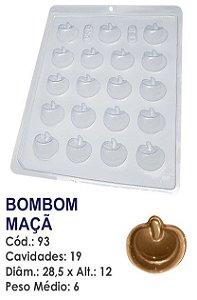 FORMA PLÁSTICA PARA CHOCOLATE BWB BOMBOM FRUTA MAÇÃ UN R.93