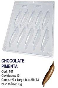 FORMA PLÁSTICA PARA CHOCOLATE BWB BOMBOM PIMENTA UN R.101