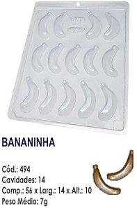 FORMA PLÁSTICA PARA CHOCOLATE BWB BOMBOM FRUTA BANANINHA UN R.494