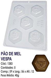 FORMA PLÁSTICA PARA CHOCOLATE BWB PÃO DE MEL VESPA UN R.1383