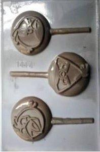 FORMA PLÁSTICA PARA CHOCOLATE TRÍADE PIRULITO ANGRY BIRDS UN R.1444