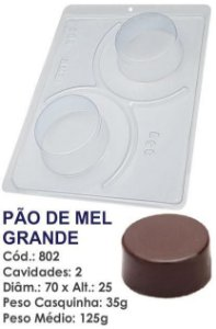 FORMA PARA CHOCOLATE COM SILICONE BWB PÃO DE MEL GRANDE UN R.802