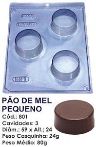 FORMA PARA CHOCOLATE COM SILICONE BWB PÃO DE MEL PEQUENO UN R.801