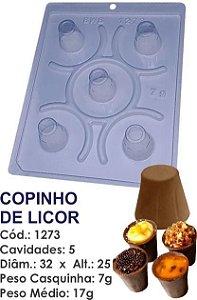 FORMA PARA CHOCOLATE COM SILICONE BWB COPINHO DE LICOR UN R.1273