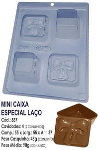 FORMA PARA CHOCOLATE COM SILICONE BWB MINI CAIXA PORTA JOIAS LAÇO UN R.837