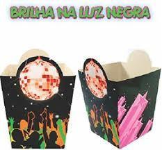 CACHEPÔ FESTA RETRÔ ANOS 60 70 80 DISCO BALADA NEON BRILHA NA LUZ NEGRA C/10UN R.97