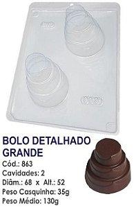 FORMA PARA CHOCOLATE COM SILICONE BWB BOLO DETALHADO GRANDE UN R.863