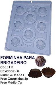 FORMA PARA CHOCOLATE COM SILICONE BWB FORMINHA BRIGADEIRO UN R.111