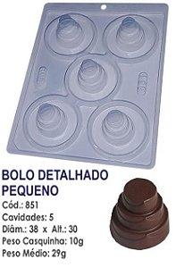 FORMA PARA CHOCOLATE COM SILICONE BWB BOLO DETALHADO PEQUENO UN R.851