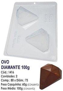 FORMA PARA CHOCOLATE COM SILICONE BWB OVO DIAMANTE 100GR UN R.1416