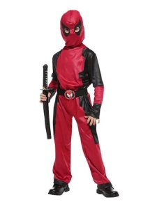 FANTASIA DEADPOOL COM MÁSCARA NINJA ASSASSINO INFANTIL R.13533_B0159