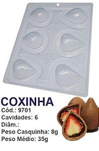 FORMA PARA CHOCOLATE COM SILICONE BWB COXINHA R.9701