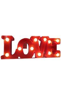 LUMINARIA LOVE LED PEQUENA 11 LEDS COR VERMELHA R.DS8147