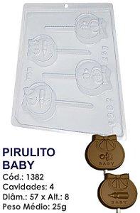FORMA PLÁSTICA PARA CHOCOLATE BWB PIRULITO BABY CHÁ DE BEBÊ UN R.1382